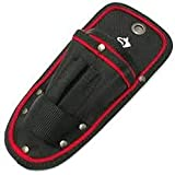 Husky Multi Tool Belt Utility Pouch Black Heavy Duty Water Resistant Belt Clip and Durable Tool Loop Holster Multipurpose