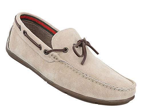 Halbschuhe Leder Schuhe 40 Beige Mokassins Slipper Herren BqRSgxw