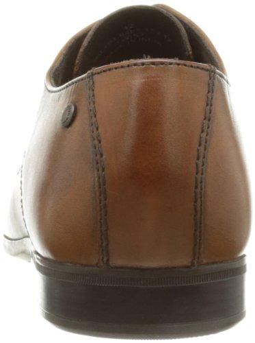 Base London - Zapatos de cordones de cuero para hombre marrón canela canela