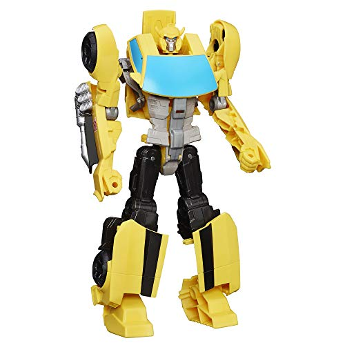 "Transformers Toys Heroic Bumblebee Action Figure - Timeless Large-Scale Figure, Changes into Yellow Toy Car, 11"" (Amazon Exclusive)"