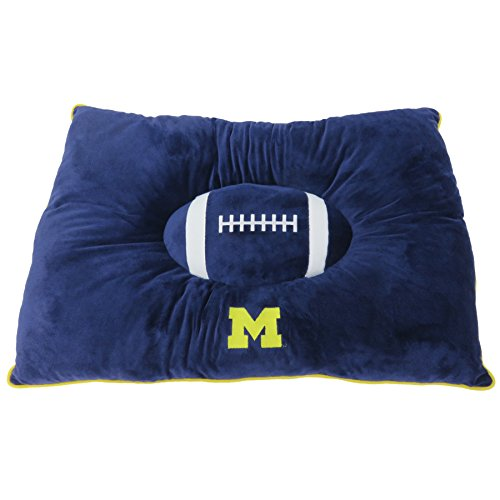 Pets First Collegiate Pet Accessories, Dog Bed, Michigan Wolverines, 30 x 20 x 4 inches (Pet Bed Ncaa)