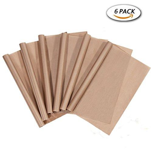 PTFE Teflon Sheet for Sublimation Heat Press Transfers Machine 6 Pack 16 x 20 Heat Resistant Craft Mat (6 PACK)