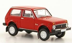 Lada Niva, rojo , Modelo de Auto, modello completo, Brekina 1:87