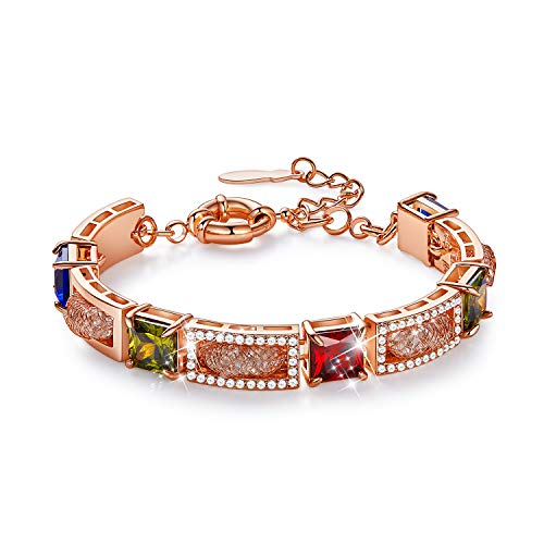 CDE Bracelet Bangle for Women 18k Rose Gold Plated Embellished with Crystals from Swarovski Jewelry for Women
