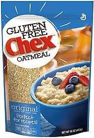 General Mills, Chex, Oatmeal, Original, Gluten Free, 16oz Bag (Pack of 3)