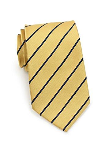 Bows-N-Ties Men's Necktie Pencil Striped Microfiber Satin Tie 3.25 Inches (Golden Yellow and (Yellow Stripe Tie)
