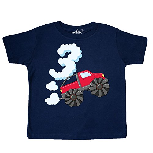 Navy Blue Truck (inktastic 3rd Birthday Monster Truck Fun Toddler T-Shirt 3T Navy Blue)