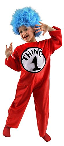 elope Dr. Seuss Thing 1 & 2 Deluxe Kids Costume (M, 8-10) (Thing 1 And 2 Costumes)