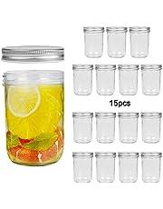 Mason Jars 16 oz Mason Jars with Regular Mouth Canning Glass Jars with Lids