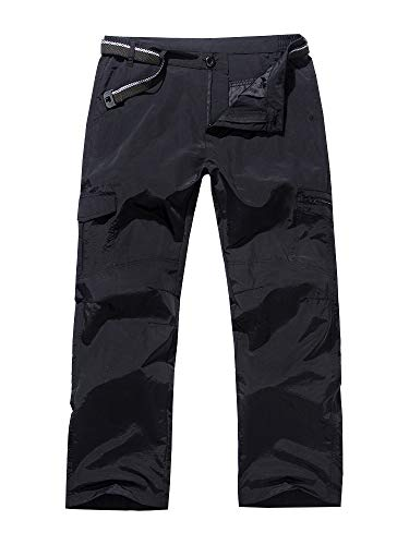 Jessie Kidden Women's Hiking Nylon Pants Adventure Quick Dry Lightweight Fishing Travel Mountain Trousers #2100-Black,36
