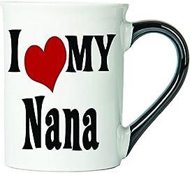 I Love My Nana Coffee Mug, Ceramic Nana Coffee Cup, Nana Gifts By Tumbleweed
