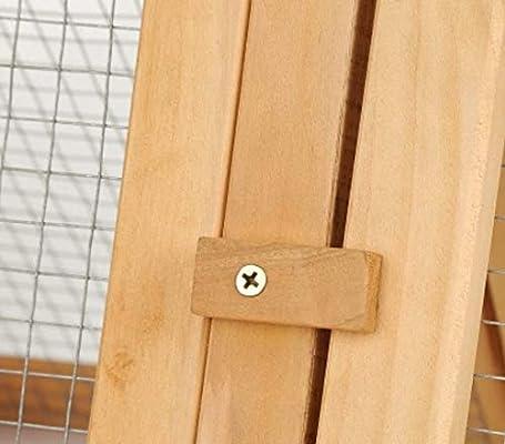 Garden Mile® - Perchero de madera grande para conejos en ...