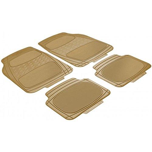 RMG R18 Tappeti auto per MUSA Tappetini Compatibili ritagliabili pesanti resistenti beige in GOMMA