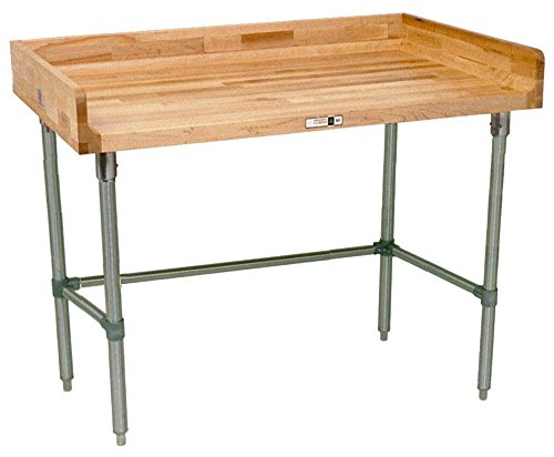Work Table w Coved Riser Rear (108 in. x 30 in. - Galvanized)