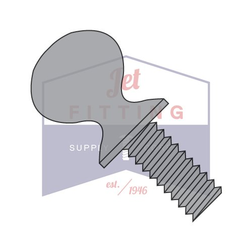 6-32X3/8 Thumb Screws | Type P | Shoulder | Steel | Plain (QUANTITY: 3000) by Jet Fitting & Supply Corp
