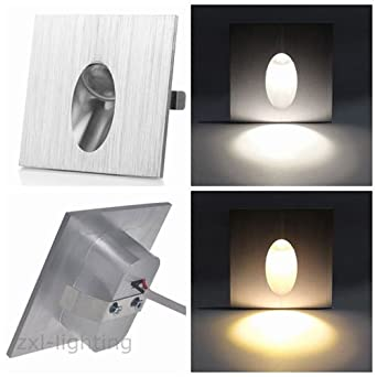 Mhy 10pcs led wall recessed light stairs stairway lamp wall mhy 10pcs led wall recessed light stairs stairway lamp wall sconces step light soft warm white mozeypictures Choice Image