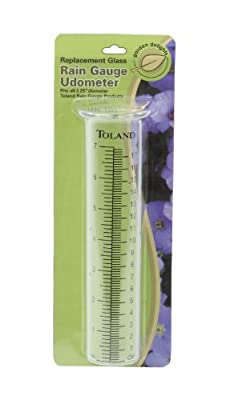 Toland Home Garden Glass Replacement Rain Gauge Tube Udometer with Large Printed Numbers 227200