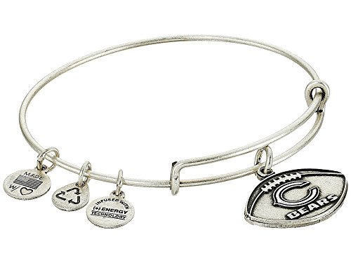 Alex and Ani Women's NFL Chicago Bears Football Bangle Rafaelian Silver One Size