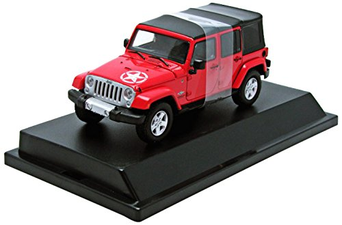 1/43 2015 Jeep Wrangler Unlimited Freedom Edition Soft Top (フレイムレッド) 86063