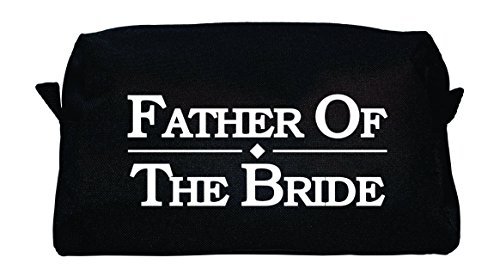 TSO Mens Wedding Party Toiletry Bag - Black Dopp Bag and Travel Toiletry Bag for Holding All Your Needs (9.25'' x 5'' x 3.75'') (Father of the Bride) by The Spoiled Office (Image #3)