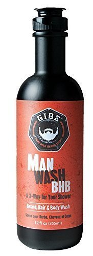 Fl Oz Body Wash (Gibs Man Wash Beard, Hair & Body Wash 12fl Oz 355ml by GIBS)