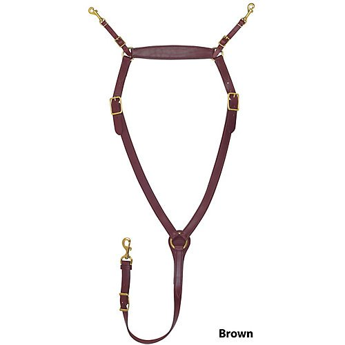 Tucker Montreal Breast Strap w/Brass Cob Brown