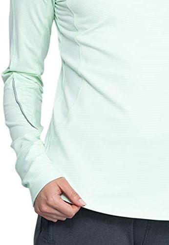 CHEROKEE Infinity CK765 Women's Long Sleeve Underscrub Knit Tee, Hint of Mint/White, 2X-Large