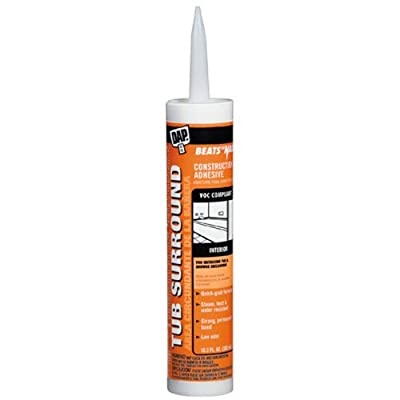 Dap 27420 Clear Tub Surround and Shower Wall Construction Adhesive 10.3-Ounce