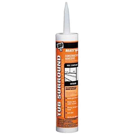 Dap 27420 Clear Tub Surround and Shower Wall Construction Adhesive ...