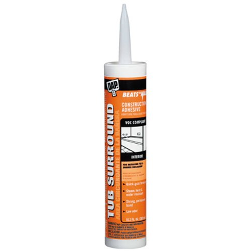 Dap 27420 Clear Tub Surround and Shower Wall Construction Adhesive 10.3-Ounce (Tub And Shower Surround compare prices)