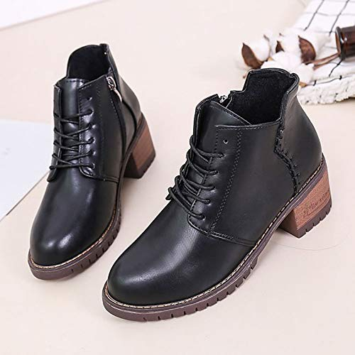 Black 7.5 US Black 7.5 US Women's Fashion Boots PU(Polyurethane) Winter Casual Boots Chunky Heel Booties Ankle Boots Black Brown   Army Green