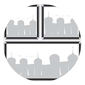 alfombrilla de ratón marco negro y la ilustración de la ciudad - ronda - 20cm