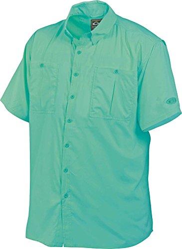 DRAKE Flyweight Shirt Vented Back Short Sleeve Gray Mist Large