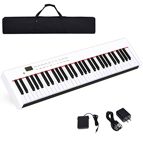Discover Bargain Costzon BX-II 61-Key Portable Touch Sensitive Digital Piano, Electric Keyboard W/MI...
