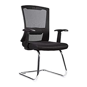 Neo Front concise style office chair black Nylon low back guest visitor chair computer chair study chair