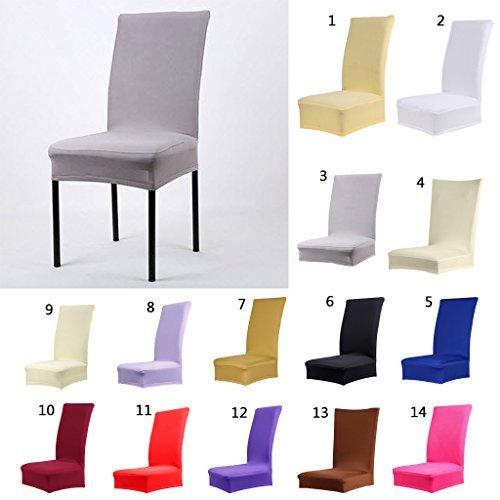 srovfidy Farbe weicher Polyester Spandex Esstisch Hocker Stuhl Bezug Stillkissen schwarz