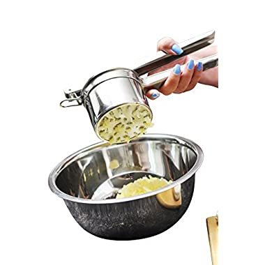Best Professional Grade Potato Ricer and Masher from Gypsy's Kitchen. Stainless Steel. 3 Interchangeable Discs Plus FREE Recipes E-Book. Make Perfect Mashed Potatoes Today.