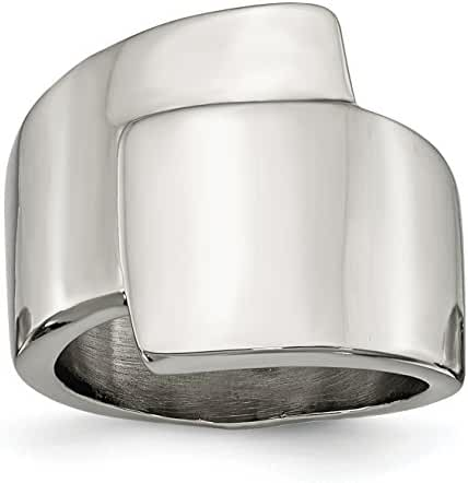 Stainless Steel Polished Fancy Ring