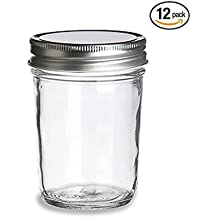 DIY Blank Vintage Glass 8oz Mason Jars - 12 Pack