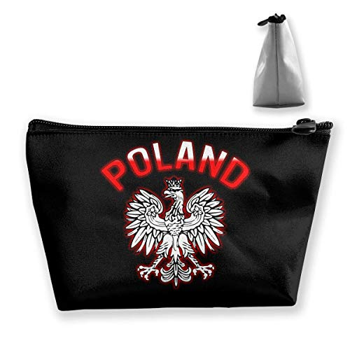 Polska - Polish Coat Of Arms Cosmetic Bags Portable Travel Makeup Pouch Toiletry Organizer