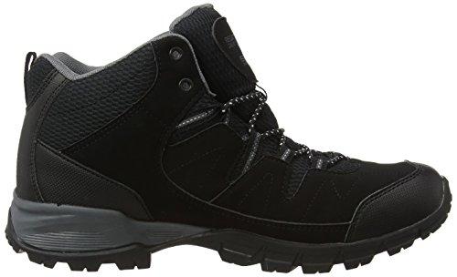 Regatta Holcombe Mid, Botas de senderismo hombre Negro (Black/Granite)