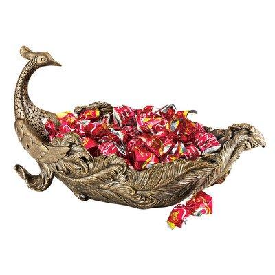 (Design Toscano Peacock's Plume Sculptural Bowl)
