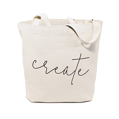 (The Cotton & Canvas Co. Create Gym, Shopping and Travel Resusable Shoulder Tote and)