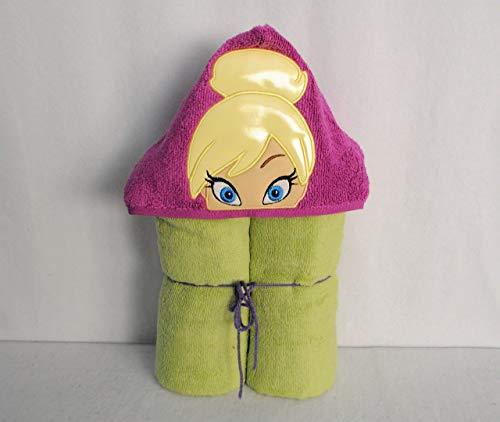 Glow In The Dark!!! Tinker Girl Fairy Hooded Bath Towel - Baby, Child, Tween -