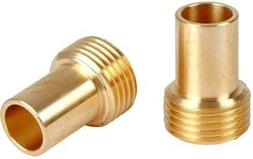 """Pair 15mm x 3//8/"""" BSP MALE IRON European Flexible Tap Connector Thread Adaptor"""