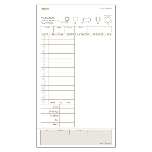 DayMark ACR-T6932SP Guest Check Board, 1 Part, Tan, 9'' Length x 5'' Width (8 Poly Packs of 250) by DayMark Safety Systems