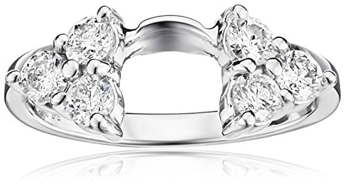14k White Gold Round Diamond Solitaire Engagement Ring En...