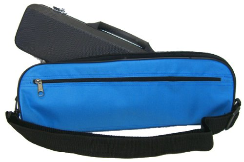 C Flute Case Cover with Handle and Shoulder Strap, Blue