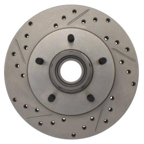 StopTech 227.62013R Select Sport Drilled and Slotted Brake Rotor; Front Right - Regal Plus Bite