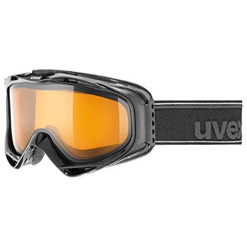 Uvex Uvison Ski Goggle (Black Metallic Matte, UV Goldlite Lens)